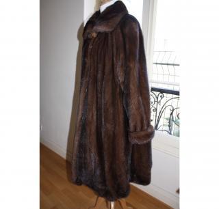 Genuine Saga Mink Fur Coat