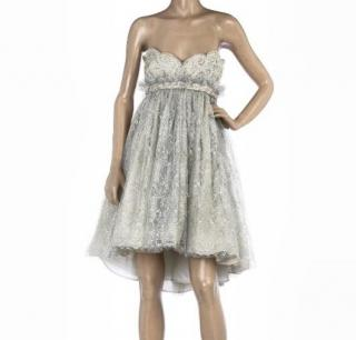 Marchesa strapless dress