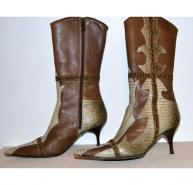Roberto Cavalli leather boots size IT36