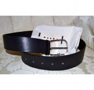 Marni Italy black leather belt NEW Size 80cm