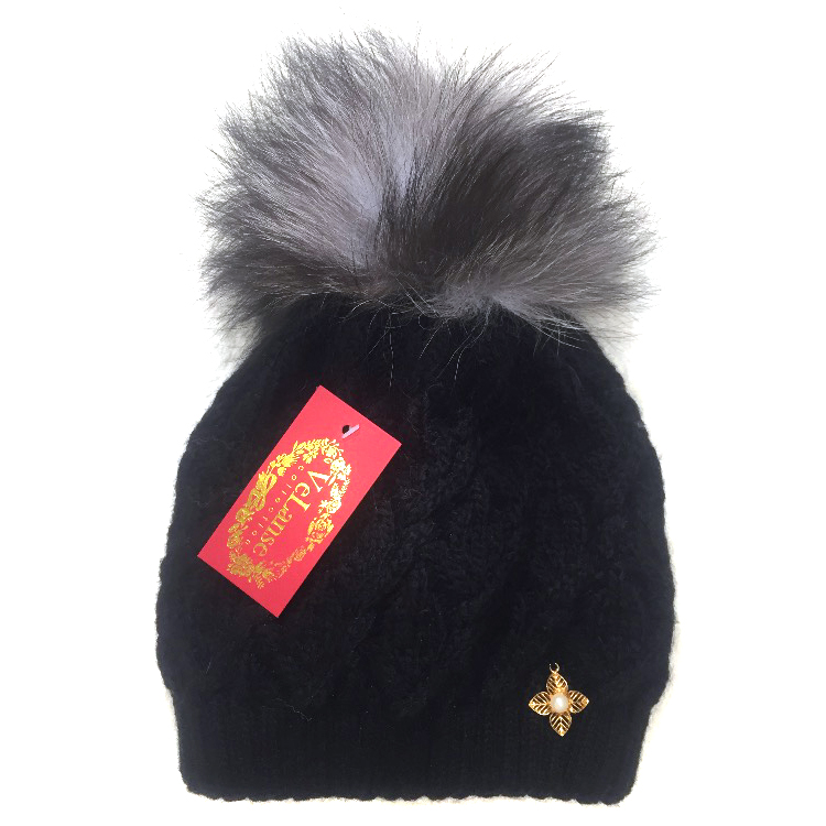 Russia Fur Company Fox Fur Pom Pom hat
