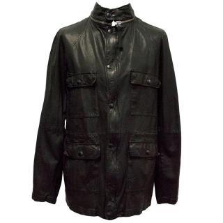 Marni Black Goat Leather Jacket