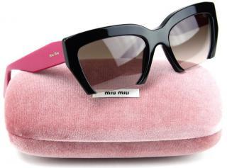 Miu Miu Rasoir Pink/Black Sunglasses