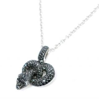 Asprey Protector Black Diamond Pendant on Chain
