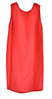 Saint Laurent red draped back silk dress