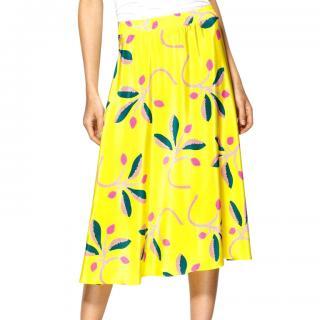 Tucker Flower Print Skirt