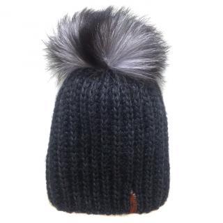Russian Fur Company Pom Pom hat with fox fur