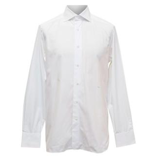 Ermenegildo Zegna Mens White Tailored Fit Shirt