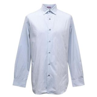 Paul Smith Men's Blue Striped Button Up