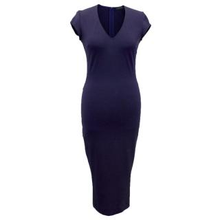 Marciano Guess Navy Blue Dress with Capped Sleeves