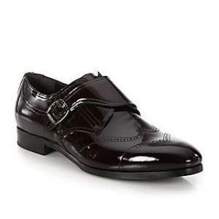 Jimmy Choo AW15 men's Monk-Strap shoes, patent leather, Black 43
