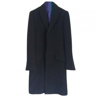 D&G Dolce and Gabbana Men's Single Breasted Black Coat