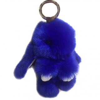 Rabbit Fur furry bunny keyring