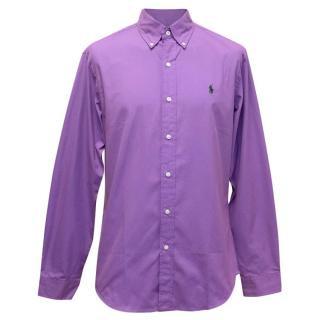 Polo By Ralph Lauren Men's Purple Button Up