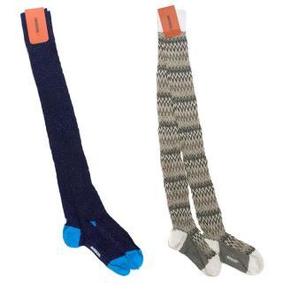 Missoni Set of Two Knee High Knitted Socks