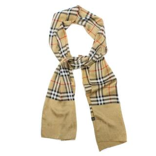 Burberry Checked Silk Scarf
