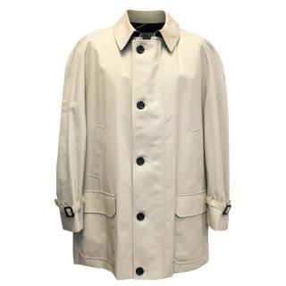 Aquascutum Men's Tan Trench Coat