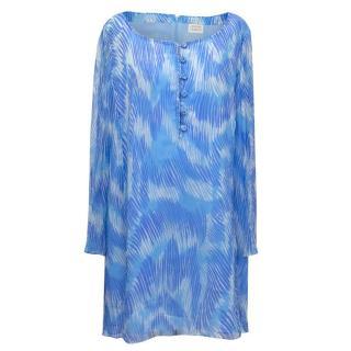 Caroline Charles Blue Silk Tunic/ShorterDress