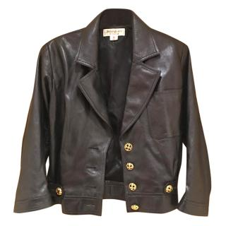 Yves saint Laurent black leather jacket