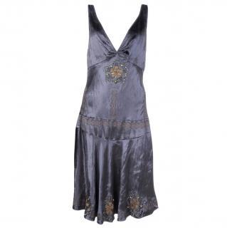 Nocturne Embellished Velvet Dress