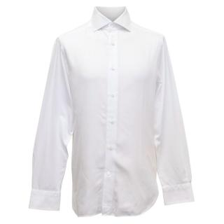 Ermenegildo Zegna Mens White Long Sleeved Shirt