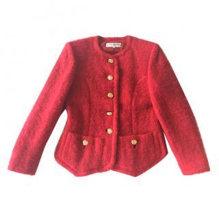 Yves Saint Laurent Vintage Red Boucle Blazer