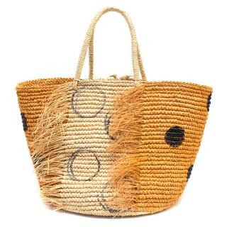 Sensi Studio Straw Beach Bag