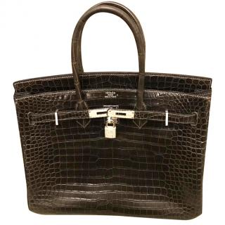 Hermes Diamond Crocodile Birkin 35