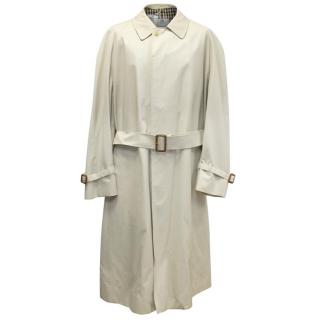 Aquascutum Men's Beige Trench Coat