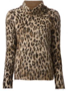 Salvatore Ferragamo leopard mohair blend jumper