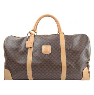 Celine Boston Bag Browns Macadam PVC 10269