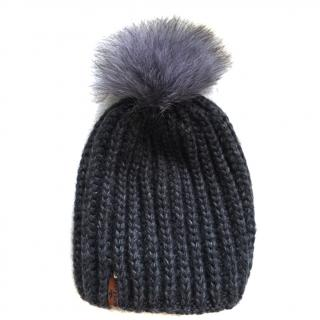Russian Fur Company Pom Pom Hat with Fox Fur