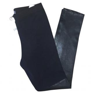 Vince Half Leather Leg Leggings