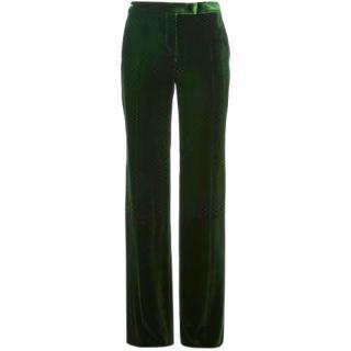 Emilio Pucci Runway Wide Leg Silky Velvet Trousers
