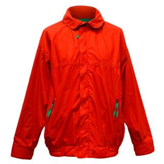 Aquascutum Men's Red Bomber Jacket with Hood