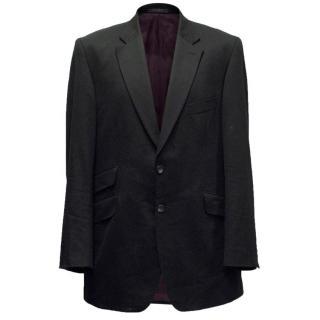 Crombie Men's Wool Black Blazer