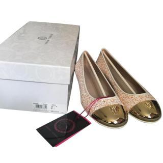 Versace Gold Toe cap Ballets