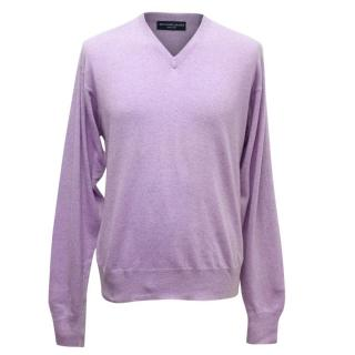 Richard James Mens Lilac Cashmere Jumper