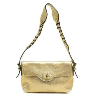 Mulberry Matte Gold Mini Shoulder Bag