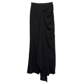Armani Black Asymmetric Maxi Skirt