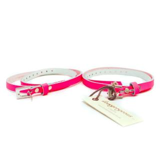 Ilovegorgeous Set of Two Neon Pink Thin Belts