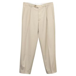 Boss by Hugo Boss Beige Wool Trousers