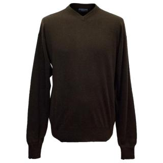 Richard James Savile Row Men's Dark Brown Jumper