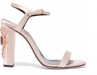 Oscar de la Renta Lemmy embellished satin sandals