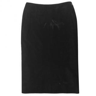 Yves Saint Laurent vintage velvet midi skirt