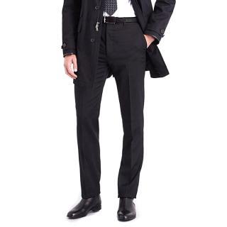 Ralph Lauren Black Label black wool trousers