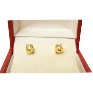 Diamond Solitaire Stud Earrings 18ct Gold 0.25ct