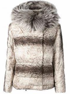 Moncler Fur Print Down Jacket