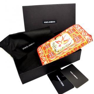Dolce & Gabbana Red Sicily Wallet Clutch