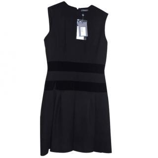Alexander McQueen sleeveless black wool mini dress